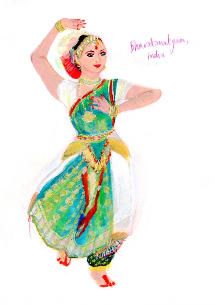India, Bharatamatyam Dance