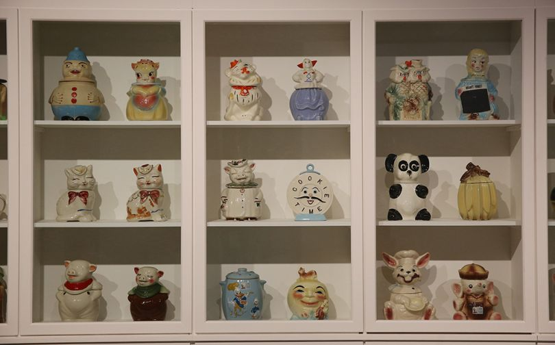 Magnificent Obsessions: The Artist as Collector, Andy Warhol's cookie jar collection. Photograph by Peter McDiarmid
