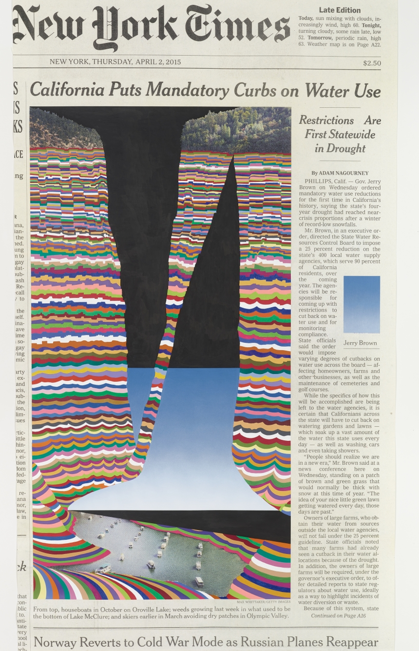 Fred Tomaselli Thursday, April 2, 2015 2016 © Fred Tomaselli. Photo © White Cube (Max Yawney)