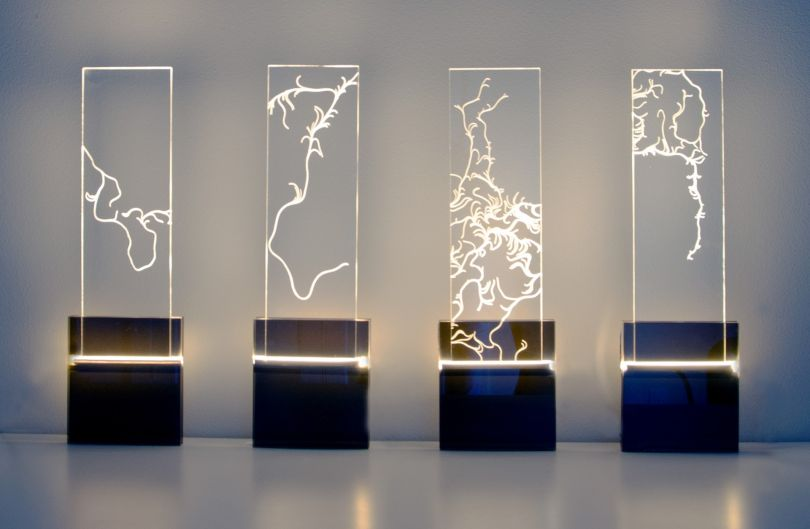 Cava Light Installation by Yingri Guan. Winner in the Generative, Algorithmic and Parametric Design Category, 2019-2020.