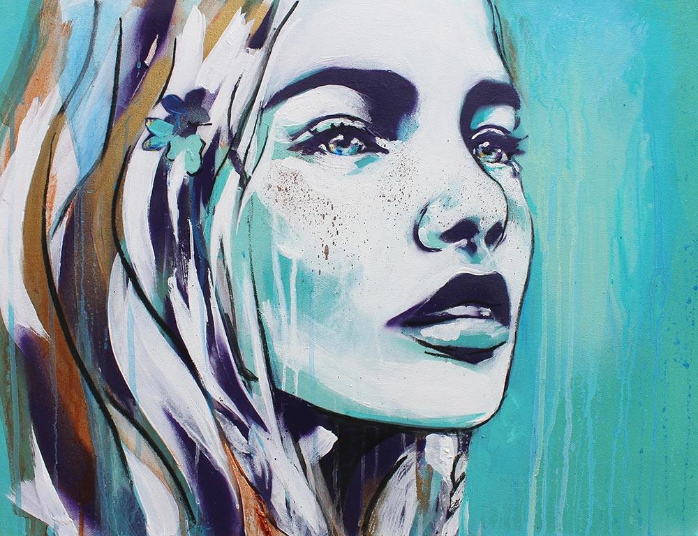 Assez Natural, Beautiful & Strong: Urban street art portraits of  HR75
