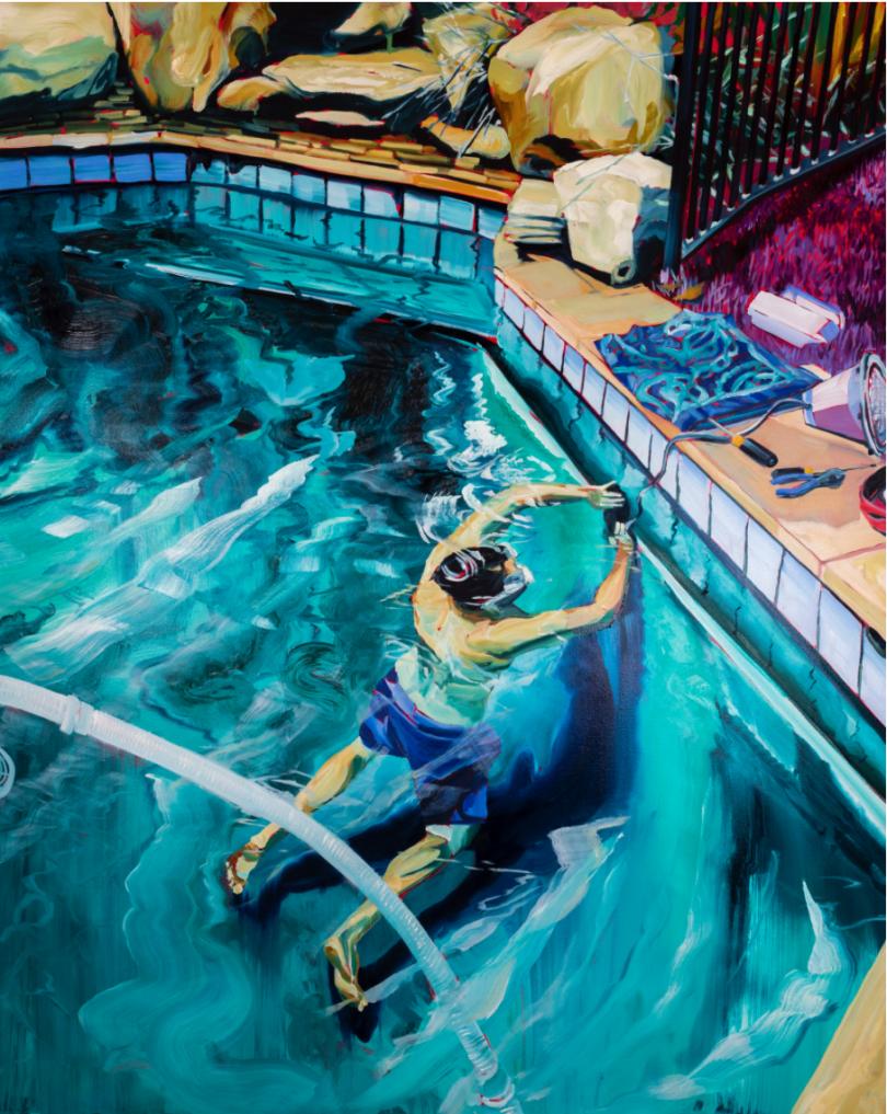 Railings (2019), Rex Southwick. Oil on canvas, 122x153cm