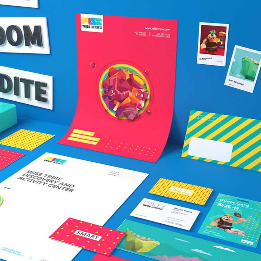 WiseTribe education Visual Identity by Somethink Brand. Silver A' Design Award Winner for Graphics and Visual Communication Design Category in 2019