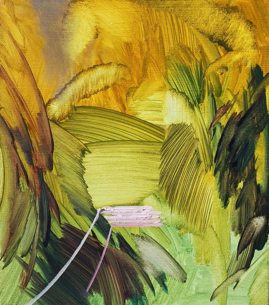 Scott Everingham, Laid Eyes 18 (2017), Oil on Canvas, 16x14