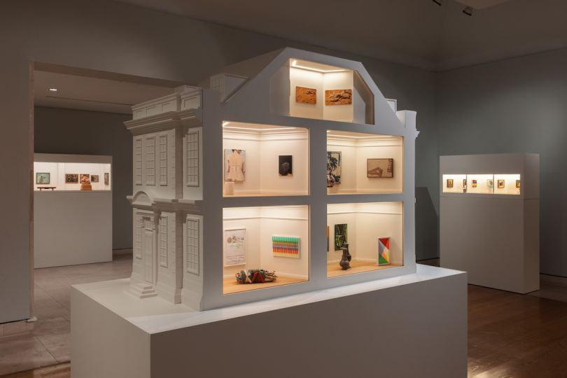 Installation views of 'Masterpieces in Miniature: The 2021 Model Art Gallery' at Pallant House Gallery. Photography: Rob Harris