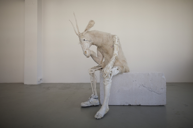 Pawel Althamer: Self-portrait as the Billy-Goat 2011 | Courtesy of the artist and Foksal Gallery Foundation, Warsaw. Photo: Bartosz Stawiarski