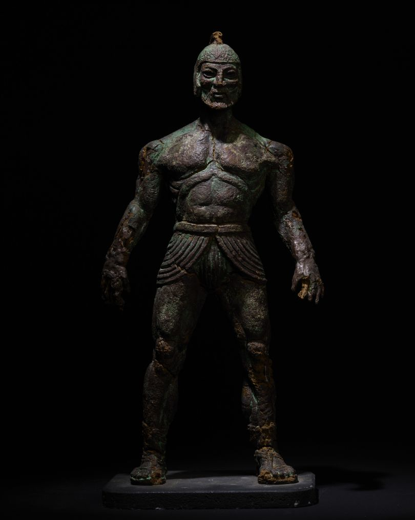 Model Talos from Jason and the Argonauts, c.1962 by Ray Harryhausen (1920-2013) Collection: The Ray and Diana Harryhausen Foundation (Charity No. SC001419) © The Ray and Diana Harryhausen Foundation Photography: Sam Drake (National Galleries of Scotland)