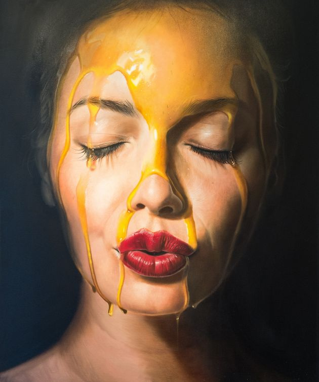 Mike Dargas, I disappear – Oil on canvas
