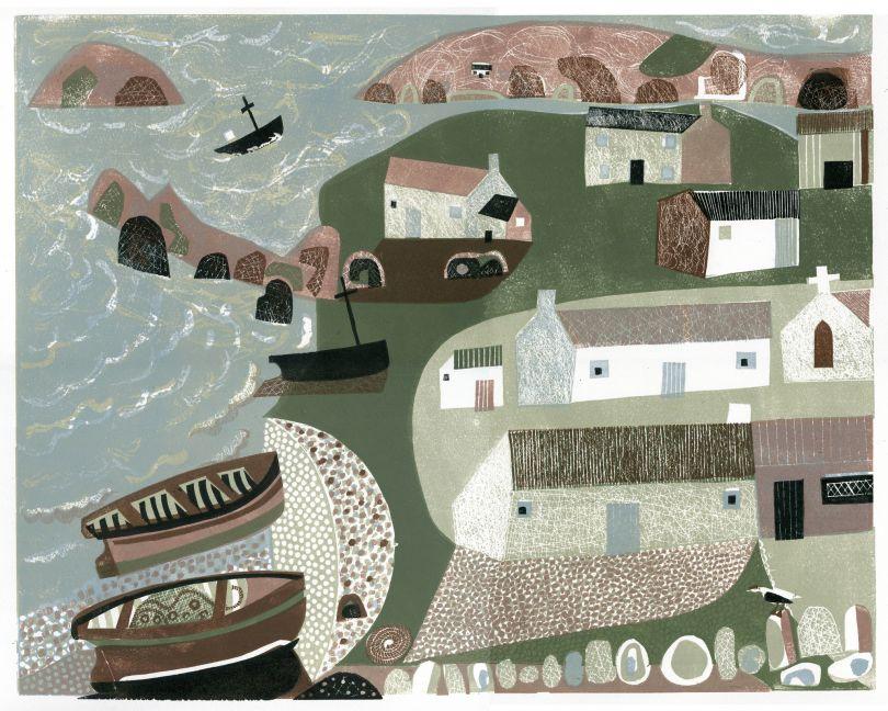 Melvyn Evans, Coastal Village, 2019. Courtesy the artist