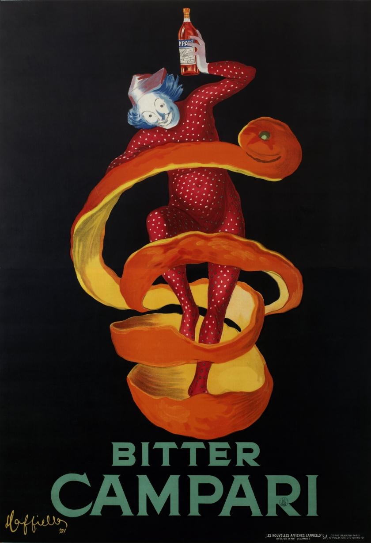 Leonetto Cappiello, Bitter Campari (Lo Spiritello) 1921. Bitter Campari (The Sprite). Lithographic colour print on paper