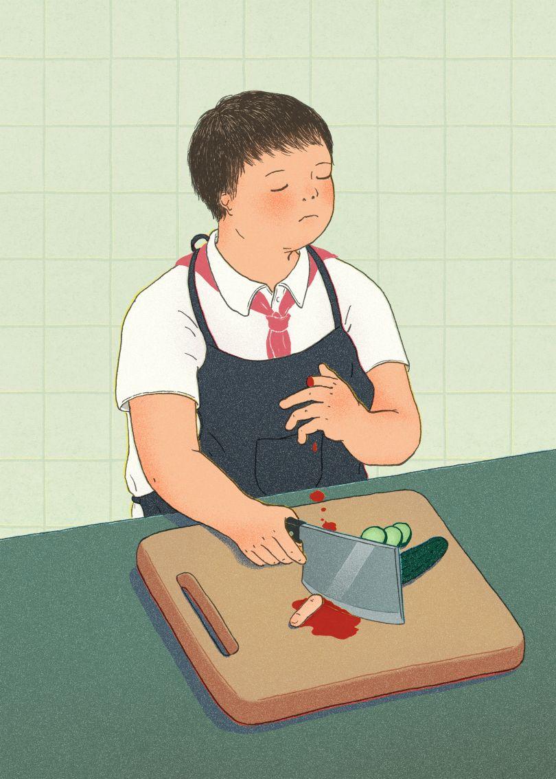 Crying is embarrassing (for boys) © Xinmei Liu
