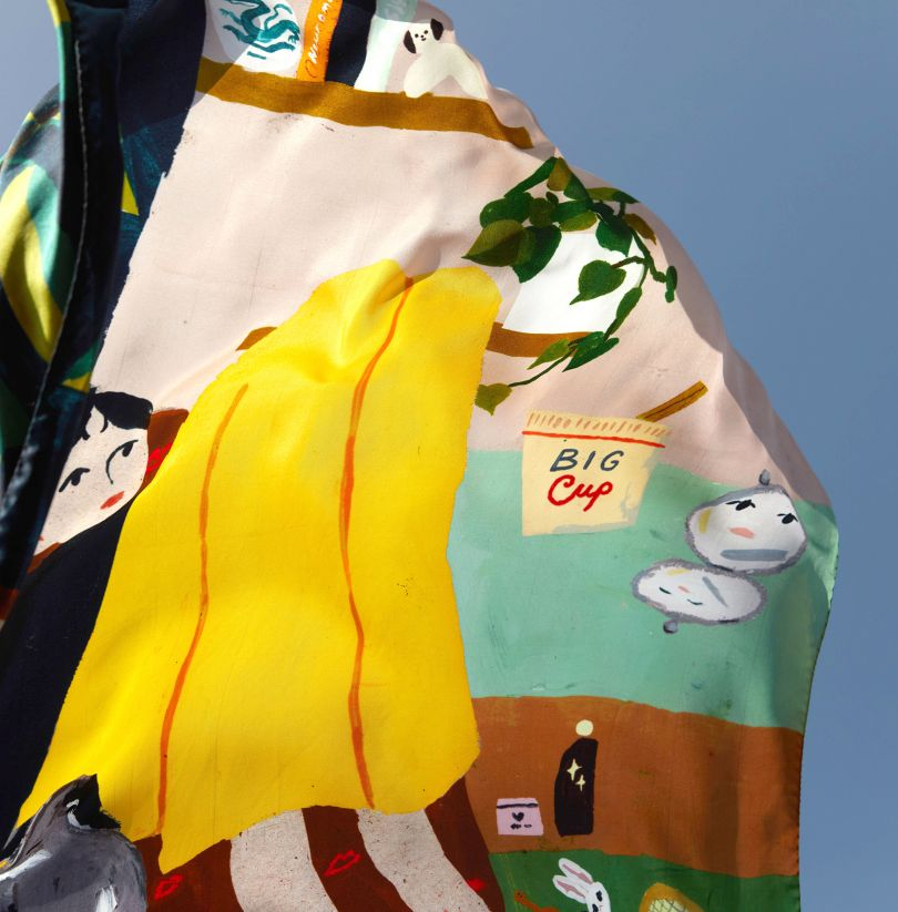 Silk scarf for Lulu Guiness London collection
