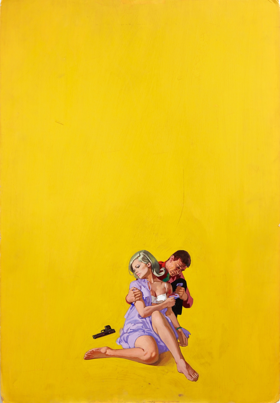 Renato Fratini, The Twisted Thing, 1967, gouache on board, copyright Lever Gallery
