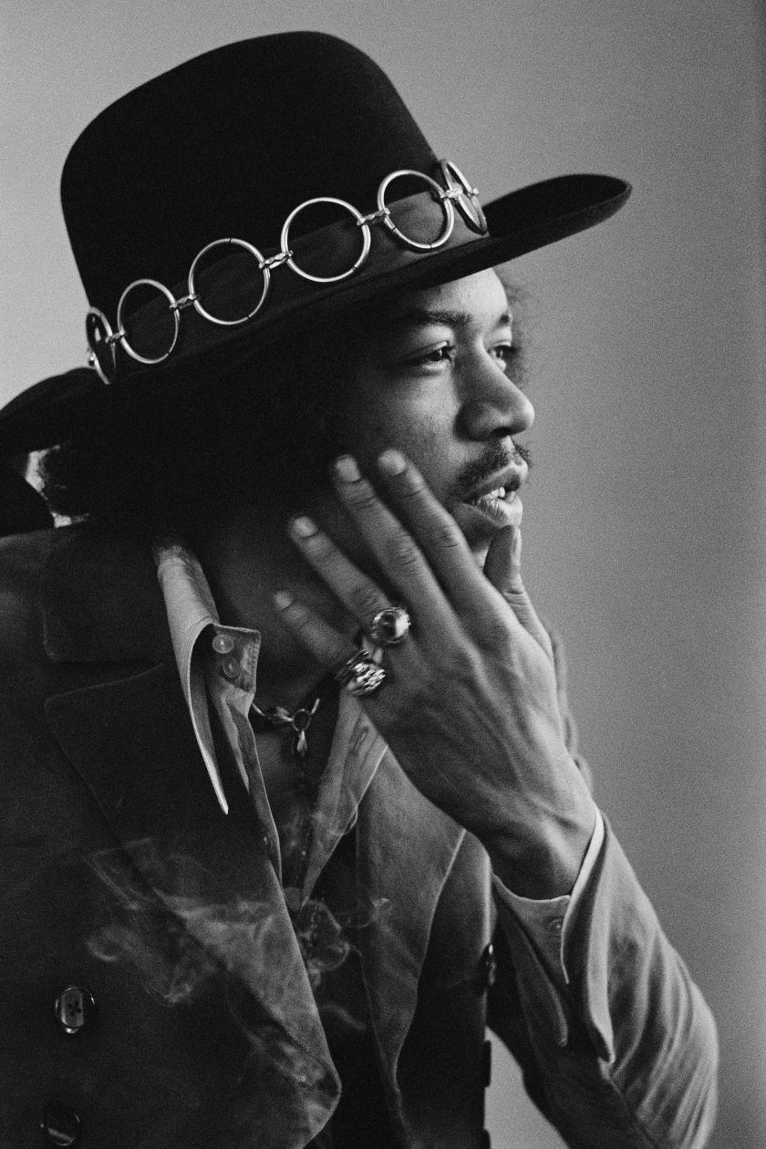 Baron Wolman, Jimi Hendrix, Gelatin silver print, 50.8 x 61 cm, © Baron Wolman | Iconic Images