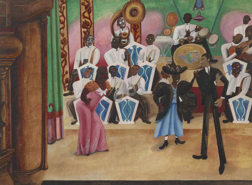 Edward Burra The Band 1934 Watercolour, 55.5 x 76cm, British Council Collection © Estate of the Artist, courtesy of Lefevre Fine Art Ltd, London and British Council Collection