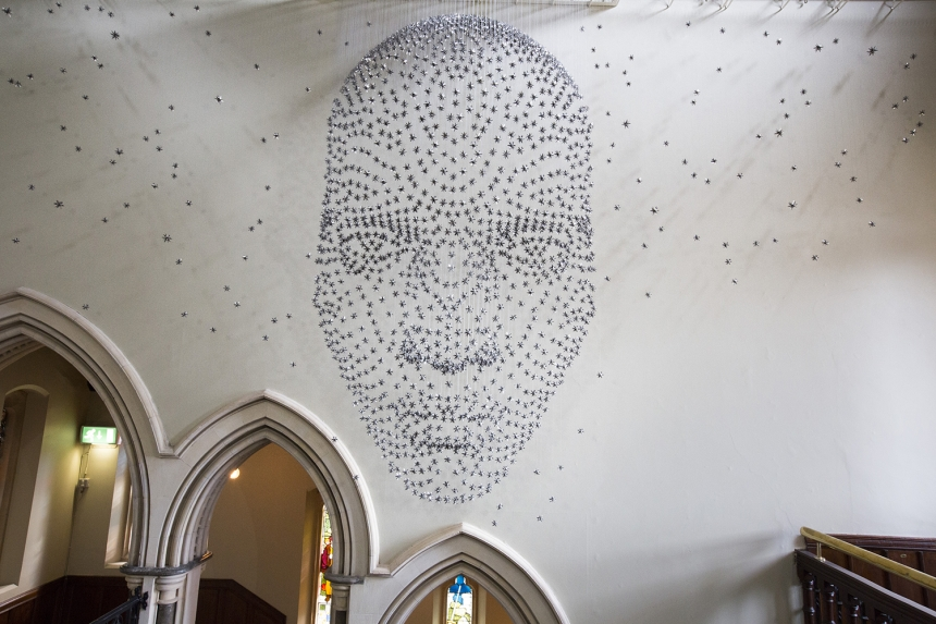 Steven Follen | A Face Made From 2,000 Stars