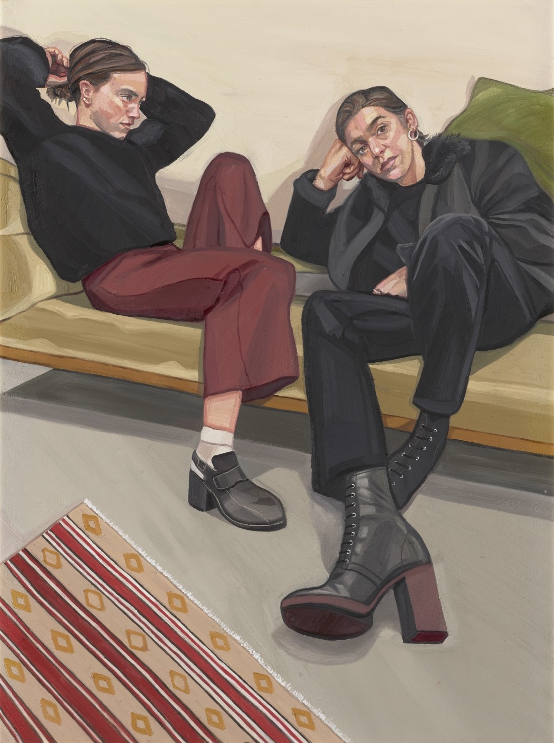 A Portrait of two Female Painters by Ania Hobson, 2018 © Ania Hobson