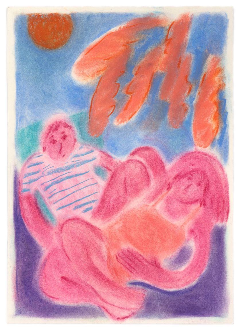 Coline Marotta, Untitled 7, 2019. Soft pastel on paper