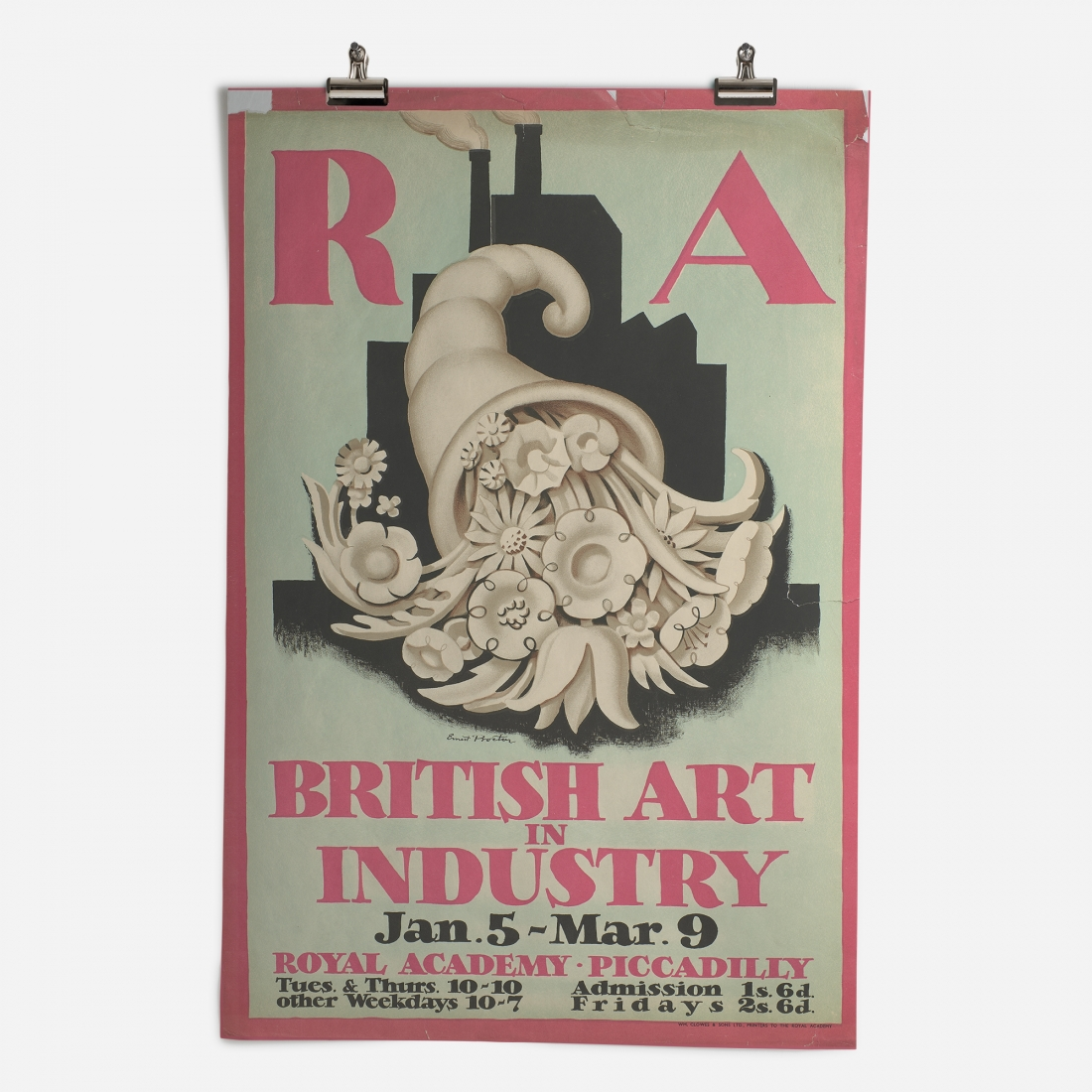 RA British Art in Industry Exhibition 1935 Epic Poster ​from the Royal Academy of Arts Collection