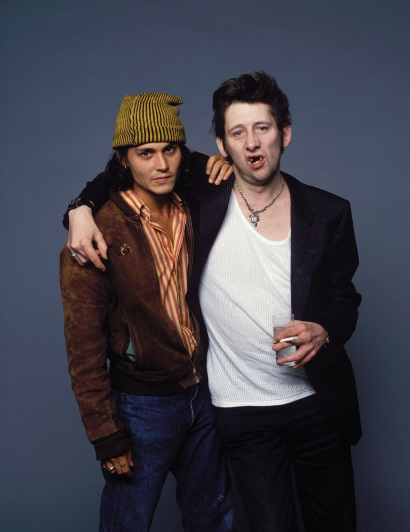 Johnny Depp and Shane MacGowan, Holborn Studios, 1996. © Derek Ridgers