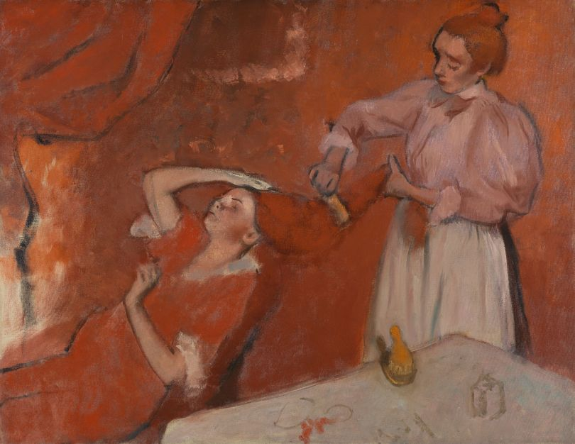 Hilaire-Germain-Edgar Degas  Combing the Hair  about 1896  Oil on canvas  114.3 x 146.7 cm  © The National Gallery, London