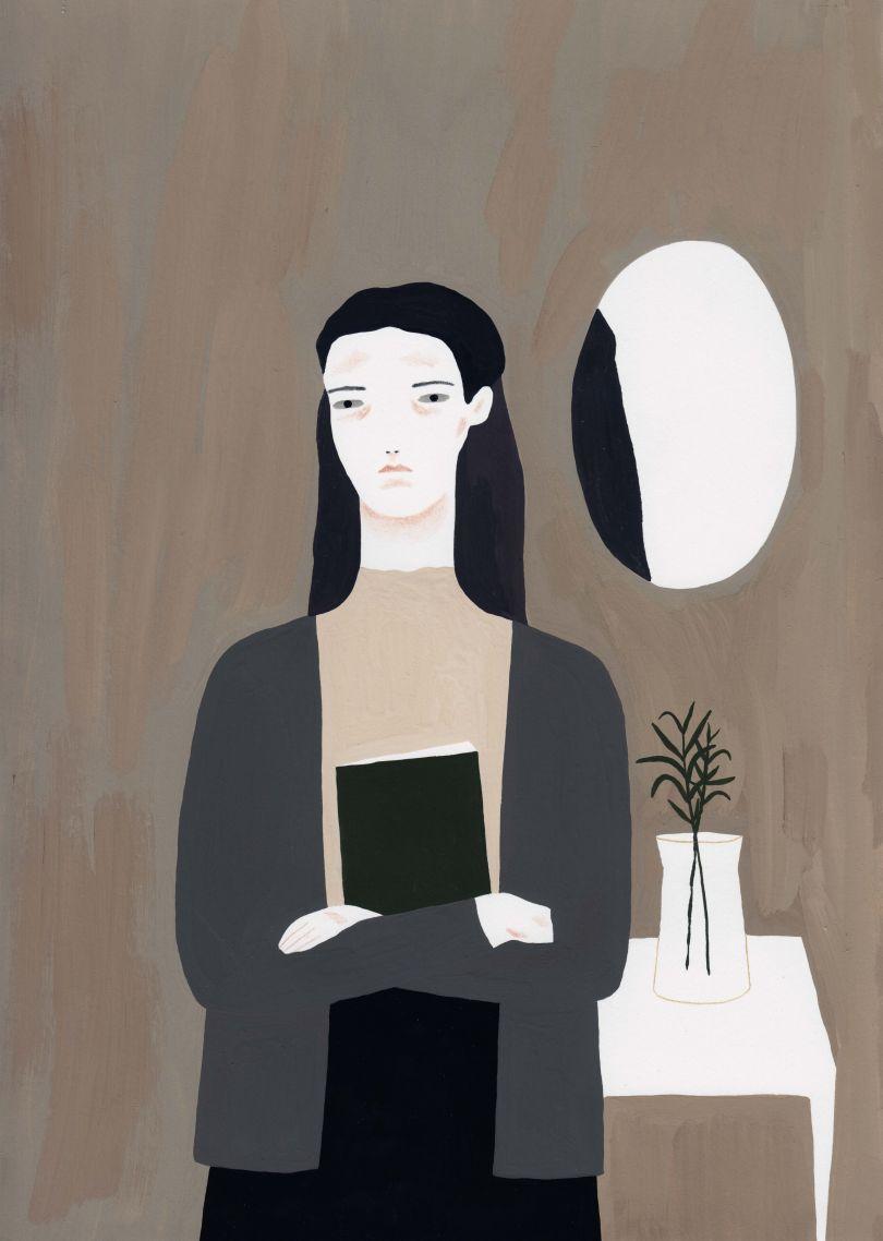 The opening image by Italian illustrator [Alessandra Genualdo](http://cargocollective.com/agenualdo), characteristically centred around a strong female figure