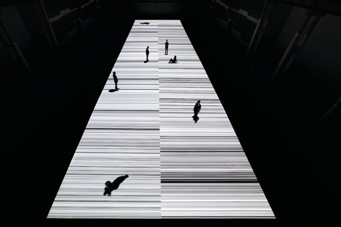 Ryoji Ikeda, test pattern [N-5], audiovisual installation, 2013 © Ryoji Ikeda