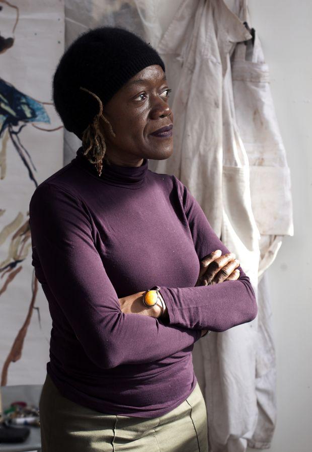 Claudette Johnson. Photo by Ingrid Pollard