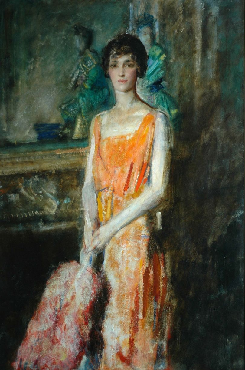 Mademmoiselle de Pourtales (1921) – Ambrose McEvoy (1877-1927). Copyright Bradford Museums & Galleries