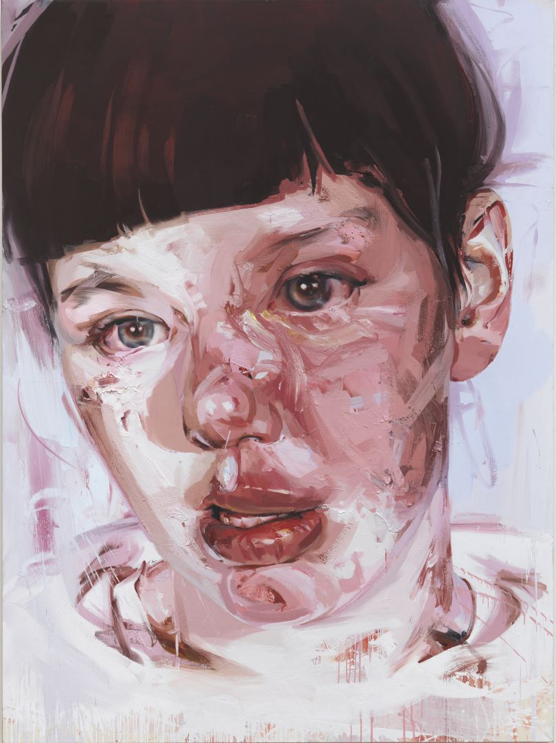 Red Stare Head IV, 2006 - 2011 Oil on canvas, 252 x 187.5cm  Private collection © Jenny Saville. Courtesy of the artist and Gagosian