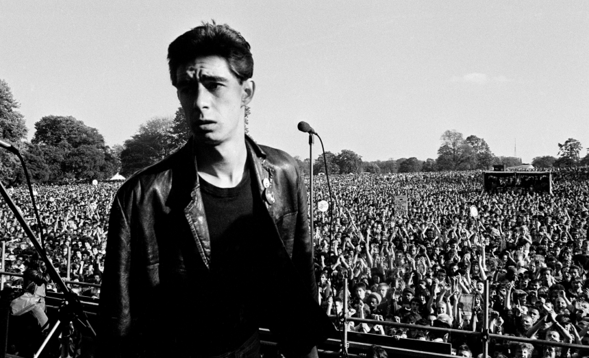 Jimmy Pursey, Sham 69, Carnival 2, Brockwell Park, Brixton, 24 September 1978. Sham 69 was billed to play but due to death threats in reaction to their anti-racist stance, pulled out. Jimmy Percy did appear and made a brave, passionate anti-racist speech to the Carnival crowd