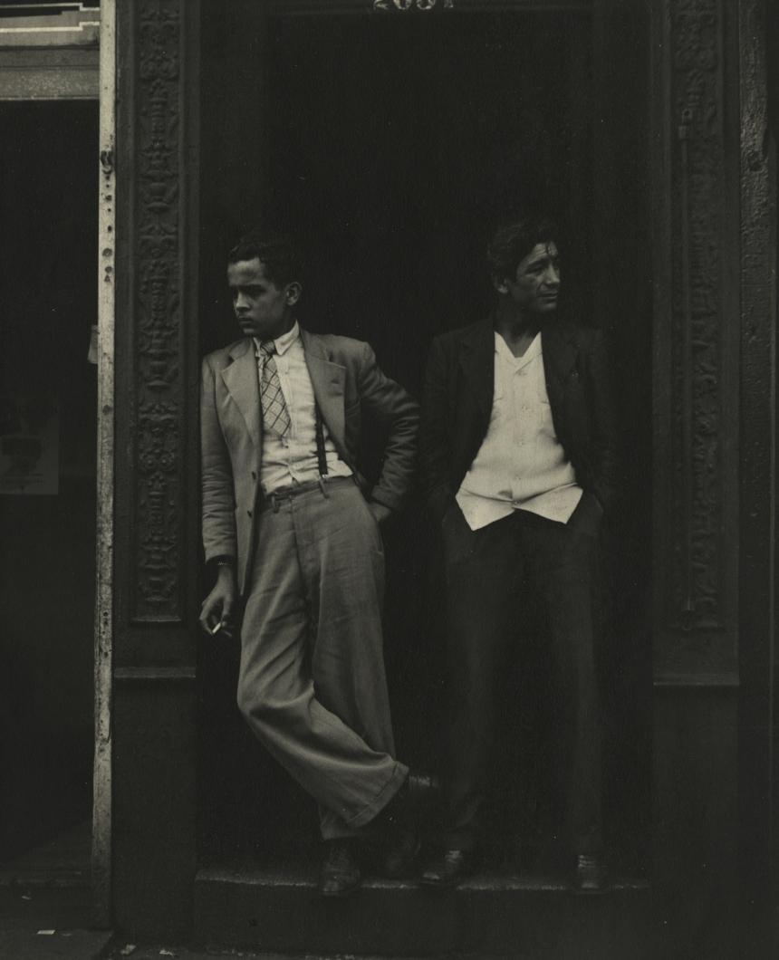 Sy Kattelson, Two Men in Doorway, 1948