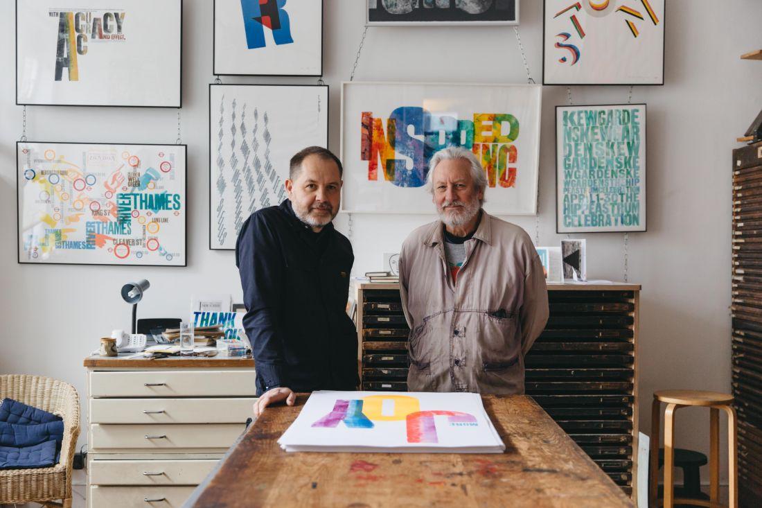 Anthony Burrill + Alan Kitching = colourful letterpress joy