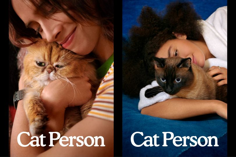 Brand photography celebrating the bond between cats and their person, photographed by David Robert Elliott