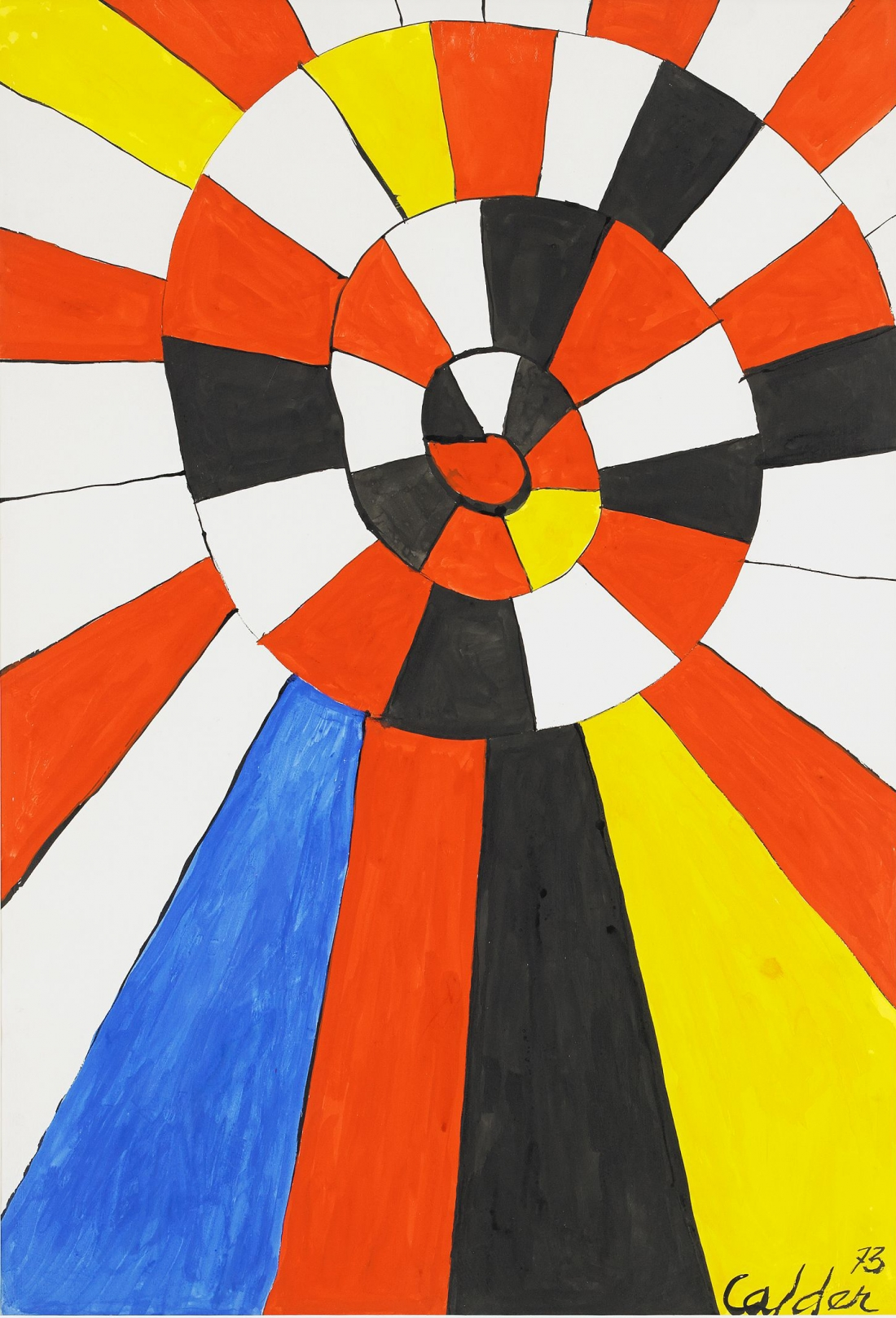 Gamble Yellow Sun, 1973 | Courtesy of Saatchi Gallery © Alexander Calder