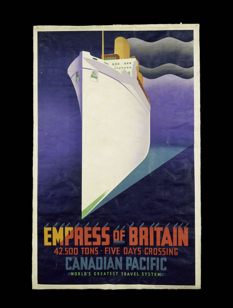 Empress of Britain colour lithograph poster for Canadian Pacific Railways, J.R. Tooby, London_,1920 _ 31 © Victoria and Albert Museum, London