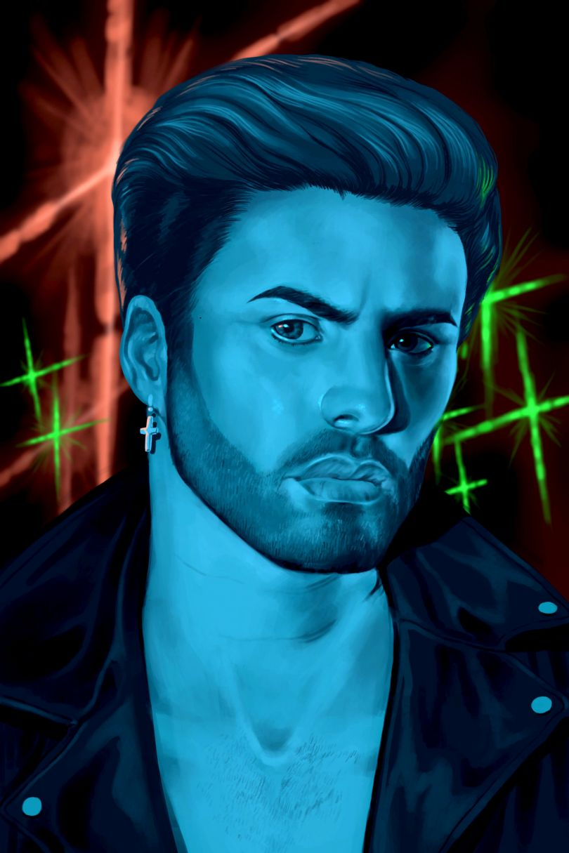 George Michael, from Queer icons series