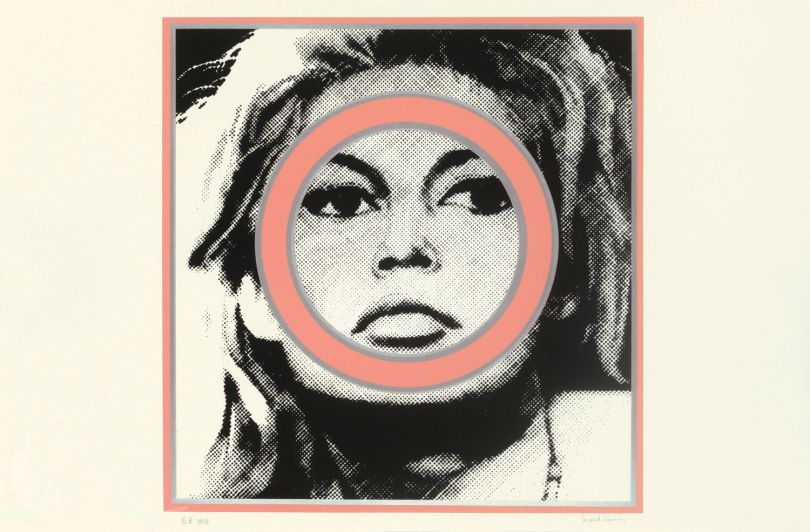 Gerald Laing,   '  Brigitte Bardot  ' from 'Baby Baby Wild Things', 1968,   screenprint  (1/6)  , Pallant House Gallery (On loan from  Lyndsey Ingram)  © The Estate of Gerald Laing,  2018.