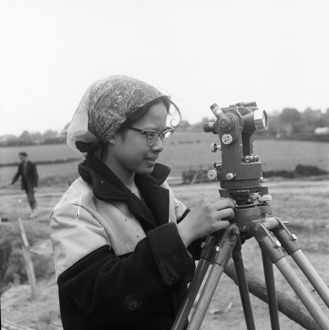 1961, Kik Hong Ong, the first female civil engineer for John Laing & Son Ltd, © Historic England