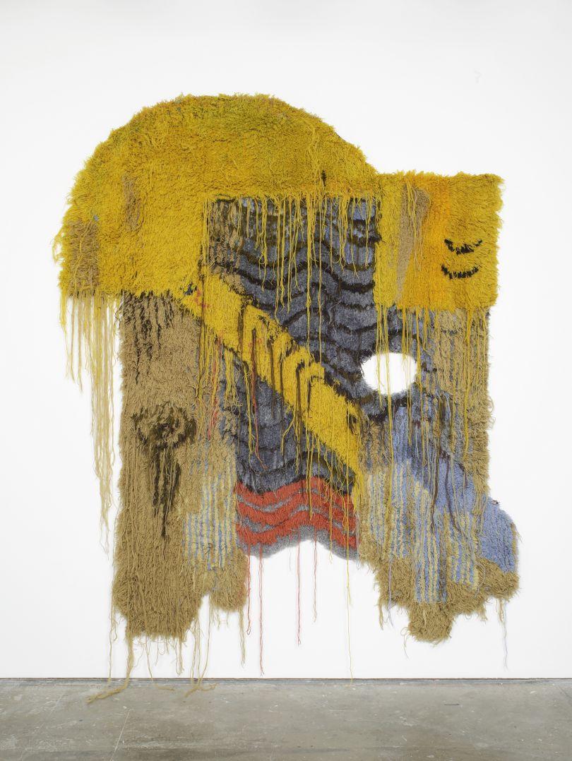 Caronline Achaintre, Mad Cap (2017), Hand Tufted Wool, 270x204cm