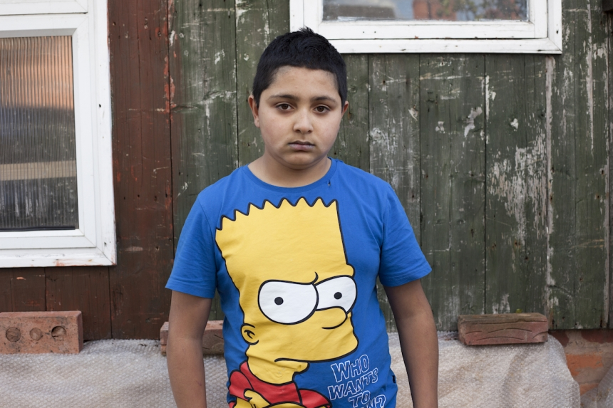 Mahtab Hussain Young boy with Bart Simpson from the series You Get Me? 2012 Courtesy of the artist
