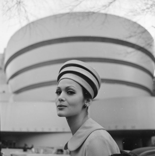 """Michael A. """"Tony"""" Vaccaro. Architectural hats, 1960. (From the Library of Congress, Prints & Photographs Division)"""