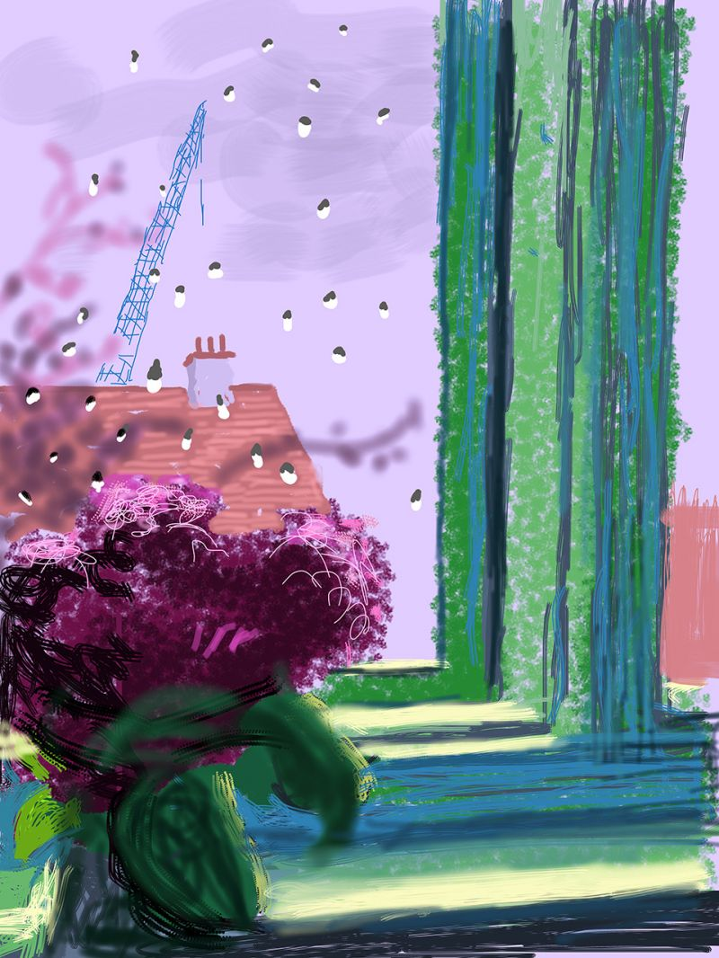 Ipad Paintings By David Hockney Of The Changing Seasons Outside The Window Of His Yorkshire Home