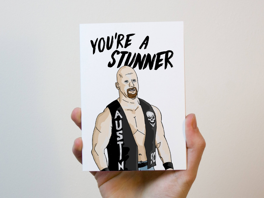 Priced at £2.75 | [Buy the card](https://www.etsy.com/uk/listing/515465460/stone-cold-steve-austin-card-love-card?ga_order=most_relevant&ga_search_type=all&ga_view_type=gallery&ga_search_query=valentines%20card&ref=sr_gallery-4-25)