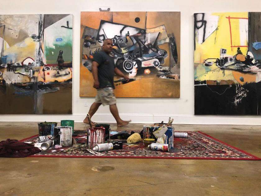 Marcus Jansen in his studio. Image courtesy of the artist ©2019 Marcus Antonius Jansen/Artists Rights Society (ARS), New York