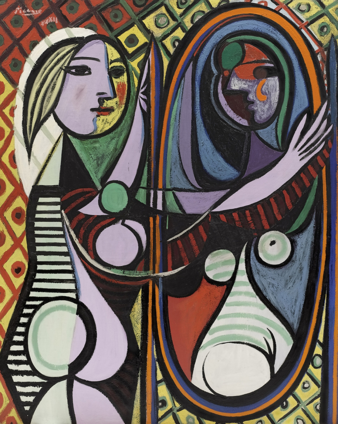 Pablo Picasso Girl before a Mirror (Jeune fille devant un miroir) 1932 Oil paint on canvas 1623 x 1302 mm The Museum of Modern Art, New York. Gift of Mrs. Simon Guggenheim 1937 © Succession Picasso/ DACS London, 2017