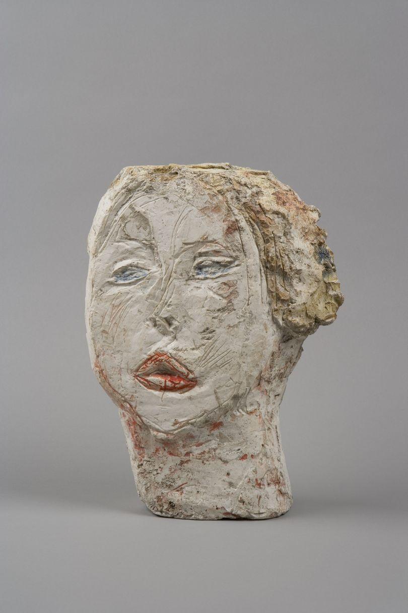 Head of Woman [Flora Mayo] 1926 Painted plaster  31.2 x 23.2 x 8.4 cm Collection Fondation Alberto et Annette Giacometti, Paris © Alberto Giacometti Estate, ACS/DACS, 2017
