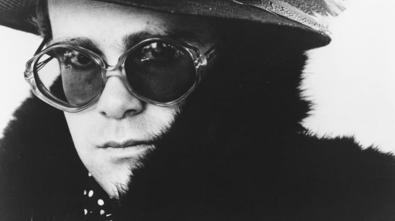 The original photo being used on the cover of Me: Elton John. Courtesy of Pan Macmillan.