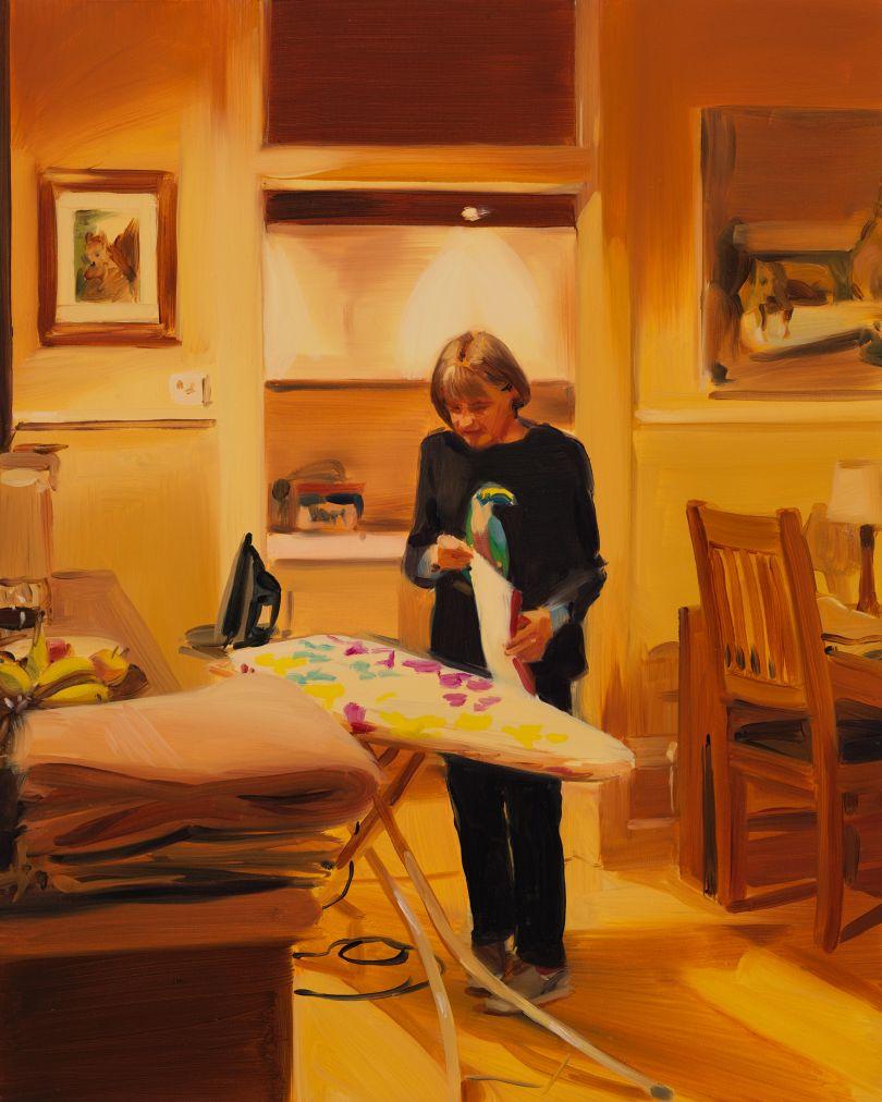 Caroline Walker Ironing Tea Towels, Late Evening, March, 2019