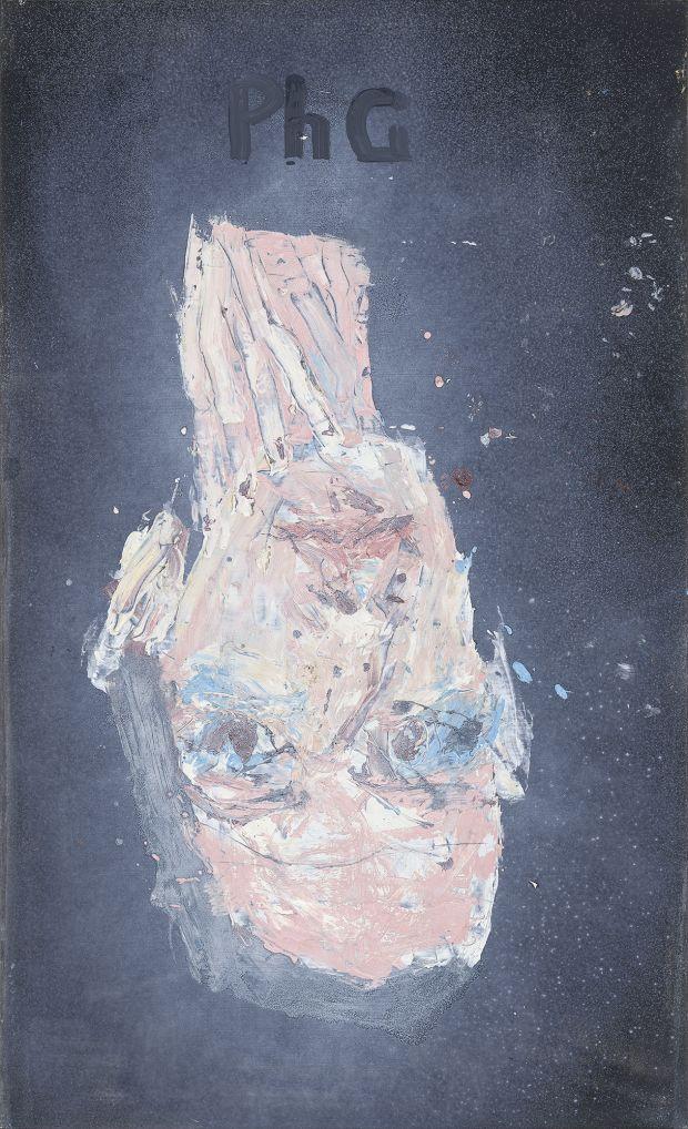 GEORG BASELITZ Philip Guston 1944, 2018 Oil on canvas 65 x 39 3/8 in 164.9 x 100 cm © Georg Baselitz. Photo: Jochen Littkemann. Courtesy Gagosian